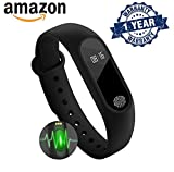 #8: Rewy M2 Smart Band with Heart Rate Sensor Features and Many Other Impressive Features, Water Proof Or Sweat Free Compatible with All Android and iOS Device {Assorted Colour}