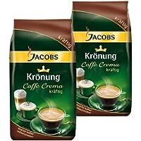 Jacobs Krönung Caffè Crema Fuerte, Granos Enteros, 2 Unidades de 1000 g