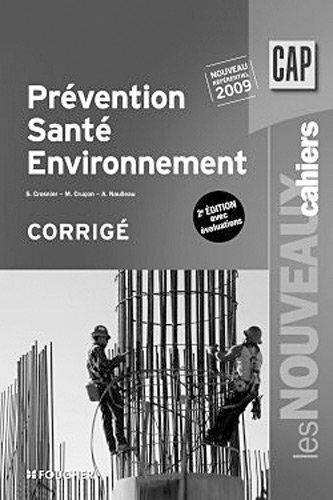 Prévention santé environnement 2e édition avec évaluations - CAP corrigé