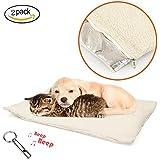 AIDIYA Hundematte waschbar, hygienisch und selbstwärmend, thermodecke hund mit kuscheligem Plüsch für Hunde