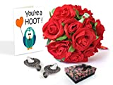 TiedRibbons Valentines gifts, Valentine Day Gifts for Wife, Valentine's day for Her Pair of earrings with Rose bunch and Valentine's Special Greeting  best price on Amazon @ Rs. 749