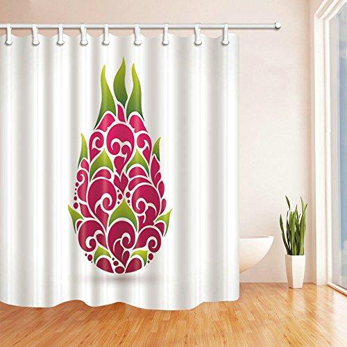 AMHNF Flamingo Scenery Cartoon Pflanze Home Fruit Gesundheit Dusche Vorhänge 180cmx180cm Nicht Moldy Polyester Wasserdicht Badezimmer Vorhang (mit Haken) Modern 70 x 70 inches Multi E889 (Dusche Vorhang Liner 180x70)