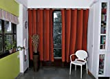 COTTON CURTAIN IN SHADES OF REDS AND BRO...