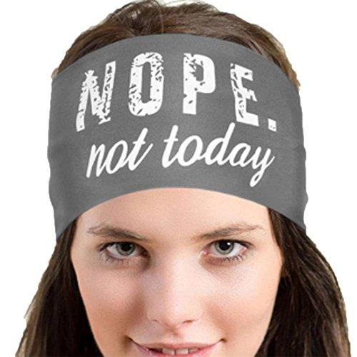 Atdoshop Frauen weiche Baumwolle Tie Dye Elastic Stretch Schweißband Headbands verstellbar Mädchen Haar Band sortiert Farben Yoga Stirnband (Nope Not Today- neu Grau) (Pulitzer-weiß-baumwolle Lilly)