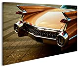 islandburner Bild Bilder auf Leinwand Heckflosse US Cars 1K XXL Poster Leinwandbild Wandbild Dekoartikel Wohnzimmer Marke