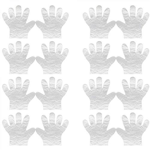 Vococal® 250 paar Einweg Kunststoff Verdicken Transparente Handschuhe - Haare Färben Färbung Behandlung Einweghandschuhe - BBQ/Sushi Essen Übergabe Verarbeitung Handschuhe