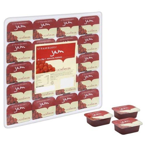 20 x Strawberry Jam â € ' 20 x 20g portions individuelles