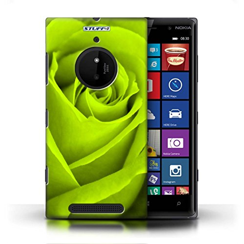 Kobalt® Imprimé Etui / Coque pour Nokia Lumia 830 / Jaune conception / Série Rose Vert