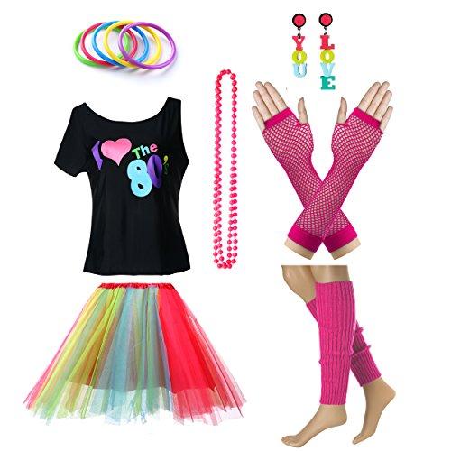 Fun Daisy Clothing Damen I Love The 80er -