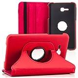 Saxonia Samsung Galaxy Tab 3 7.0 Lite Hülle Case Tablet Tasche Schutzhülle (360) Cover Premium Qualität Rot