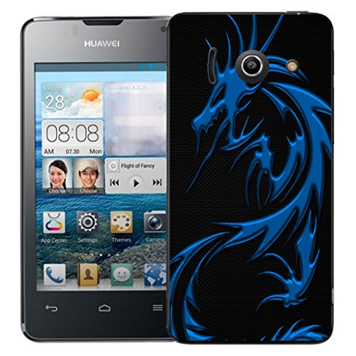 mobile-case-mate-huawei-ascend-y300-clip-on-hard-case-cover-bumper-blue-dragon-pattern-with-stylus-p