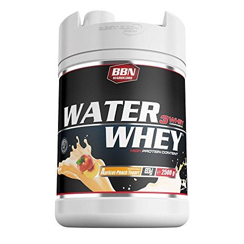 BBN Hardcore Water Whey Protein ApricotPeach Yoghurt, 1er Pack (1 x 2.5 kg)