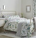 Blume Blumen Blätter Grün Türkis Baumwollmischung Einzelbett Bettbezug