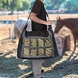 Borsa per fieno, accessori per mangimi per sacchi di fieno per cavalli in tessuto Oxford di capacità elevata 600D