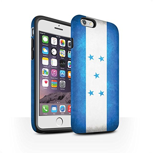 STUFF4 Matte Harten Stoßfest Hülle / Case für Apple iPhone 6 / Albanien/Albanisch Muster / Flagge Kollektion Honduras