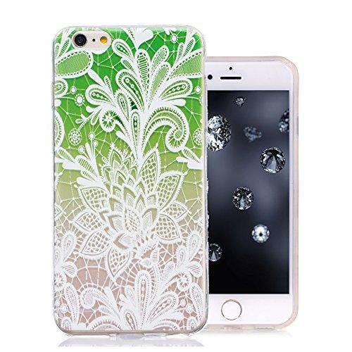 iPhone 6S Plus Coque, Aeeque Mode Fille Dessin Clear Crystal Silicone Doux TPU Protection Contre les Chutes Case Cover Housse Etui pour iPhone iPhone 6 Plus / 6S Plus 5.5 pouce Motif #6
