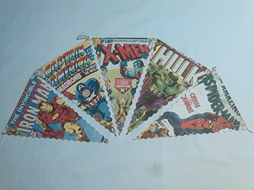 handmade-super-hero-marvel-style-bunting-garland-banners-perfect-for-a-party-or-bedroom