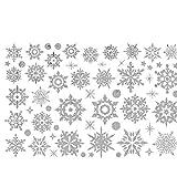 ODJOY-FAN Entfernbar Fenster Aufkleber Weihnachten Wandtattoos Schneeflocke Wandaufkleber Schnee Glas Wandbilder Restaurant Einkaufszentrum Dekor (30 x 45 cm)(Weiß,1 PC)