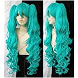 Heat-resistant wig Hatsune Miku Vocaloid magnet cosplay wig green (japan import)
