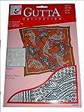 ARTY'S GUTTA COLLECTION - Motiv: Kangaroo - Crepe de Chine 5, ca. 90x90cm, rollierte Ränder (Gutta schwarz)
