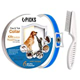 U-picks Flea Tick Collar Dogs Cats,6 Month No-Toxic Protection Tick Control,Natural Essential,Non-Allergy Waterproof-Blue