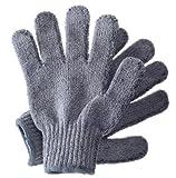 Hydrea London karbonisierte Peeling-Handschuhe aus Bambus BCEG1