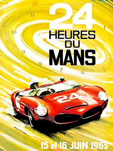 ADVERT MOTOR RACE LE MANS 24 HOUR SPEED CAR CLASSIC ART PRINT POSTER BB9434 (Classic Car Motor Oil)