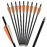"""SHARROW 18pcs Frecce Balestra Bulloni Freccia di Carbonio 16"""" 17"""" Frecce per Balestra Crossbow Arrows (Arancione, 17"""")"""
