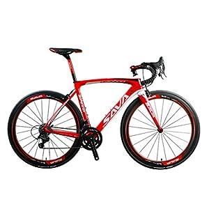 51KiS1mPV7L. SS300 SAVADECK HERD9.0 700C Bici da Strada Fibra di Carbonio Ciclismo con Campagnolo Centaur 22-velocità Sistema e Fi'zi: k…