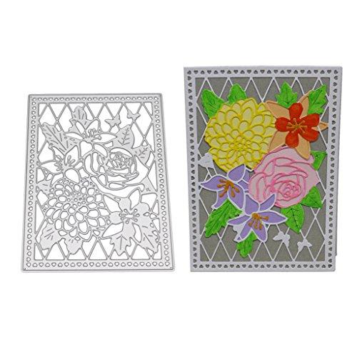 wanfor 1PC Flower Board Metall Formen Schablone für DIY Scrapbooking Prägung Album Papier Karte Foto Dekoration Handwerk Schnitt stirbt, Geschenk, für Kinder Kinder Geburtstag, 10x 14cm -