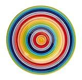 Colores del arcoíris de cerámica Windhorse 26 cm plato