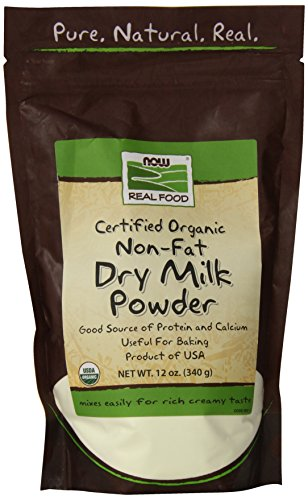 NOW Foods - Jetzt reale Nahrungsmittelorganisches fettfreies trockenes Milch-Puder - 12 Unze.