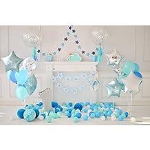 333a50b317c79 LEDMOMO 3D Fondo de Foto de Banquete de Primer Cumpleaños con Globos Fondo  de Pared Apoyos