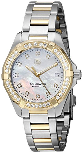 Tag Heuer 300 Aquaracer Women's Diamonds 32mm Quartz Date Watch WAY1353.BD0917