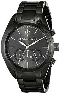 maserati r8873612002 montre homme quartz chronographe bracelet acier inoxydable gris. Black Bedroom Furniture Sets. Home Design Ideas
