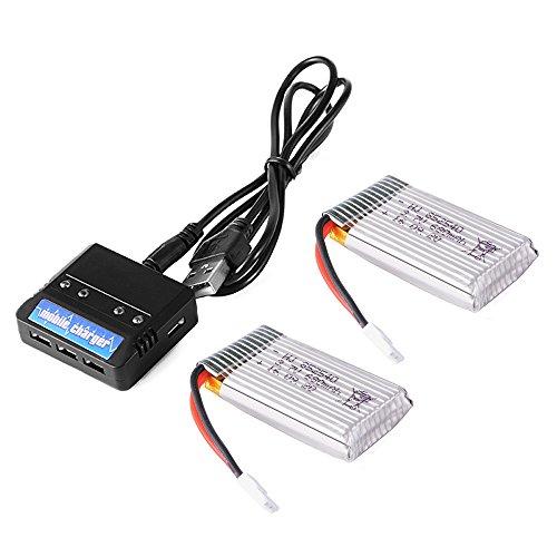 XCSOURCE-2pcs-Lipo-Batteries-37V-680mAh-25C-Chargeur-Batterie-4-en-1-pour-Quadcopter-Syma-X5-X5C-X5SC-X5SW-BC638