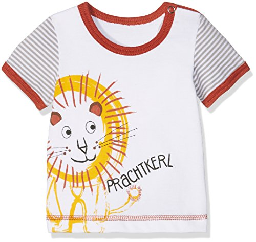 Adelheid Baby-Jungen T-Shirt Prachtkerl Bio Leibchen k. A. Albglück, Weiß (Blütenweiss 100), 62 (Herstellergröße:62/68) (Bio-baumwoll-t-shirt Glücks)