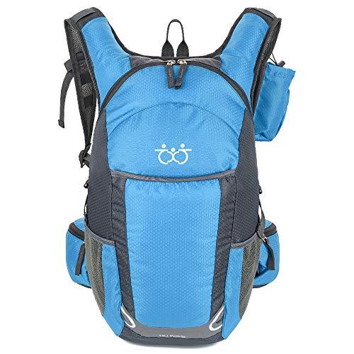 35L Ultraleichter Fahrrad Rucksack,Outdoor Wasserdicht Rucksack Atmungsaktiv Trekking Rucksack Kurztrip Rucksack Sport Daypack Reiten Tasche für Camping, Klettern, Radfahren(5Farbe)