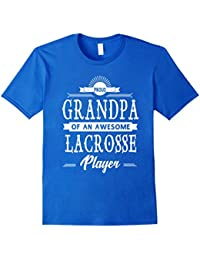 Proud Grandpa OF an Awesome Lacrosse Player T-shirt