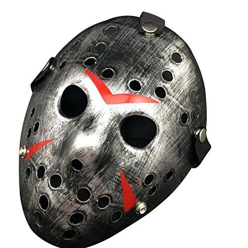 Macxy - Jason vs Freitag Das 13. Horror Hockey Cosplay Halloween-Mörder-Maskerade-Masken-Halloween-Maske [B 2PC]