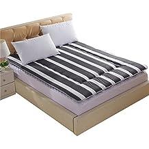 Cama Doble Individual/Colchones Dormitorio Estudiante/Colch¨®n Plegable De La Esponja Espesada-A 150*200cm(59x79inch)