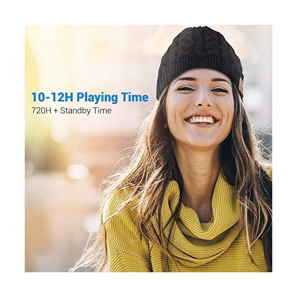 Cappello Bluetooth Bluetooth Beanie 5.0 , Cuffie a Cuffia wireless con Altoparlanti Stereo HD e MIC Incorporato… 3 spesavip