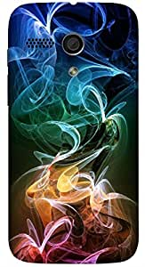 Significant multicolor printed protective REBEL mobile back cover for Motorola Moto G (2014) 1st Gen D.No.N-L-18482-MG1