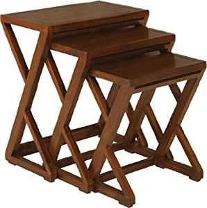 Nomades Design  501044 Set de 3 Tables gigognes Bois/Contreplaqué 24 x 38 x 47 cm