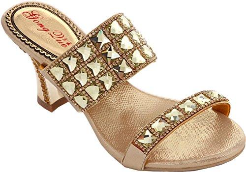 CFP - Scarpe con cinturino alla caviglia donna Oro