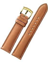 Correa de reloj Banda de repuesto Banda de liberación rápida 18mm 19mm 20mm 21mm 22mm Francia Cuero de becerro Clásico de acero de oro Pin hebilla Cierre CHIMAERA