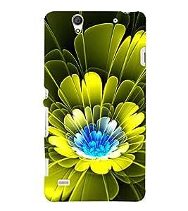 Modern Art Design Flower Pattern 3D Hard Polycarbonate Designer Back Case Cover for Sony Xperia C4 Dual :: Sony Xperia C4 Dual E5333 E5343 E5363
