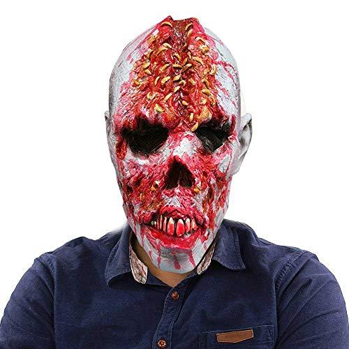 Umiwe Cabeza de Horror de Halloween Máscara de Calavera de Miedo Mascarilla Sobre Máscara para la Fiesta de Disfraces de Halloween Cosplay