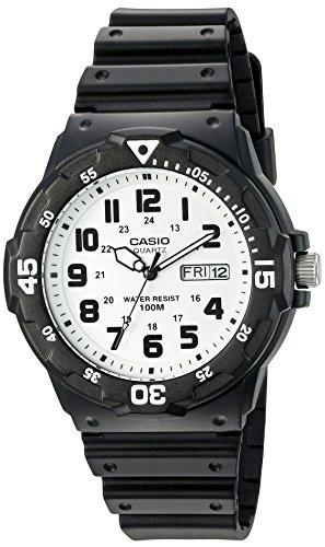 Casio Men's 'Classic' Quartz Resin Automatic Watch, Color:Black (Model: MRW200H-7BV)