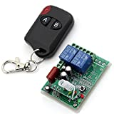 AC 220V 1000W 10A 2canales interruptor de control remoto inalámbrico Smart inching autobloqueo AB tipo negro transmisor